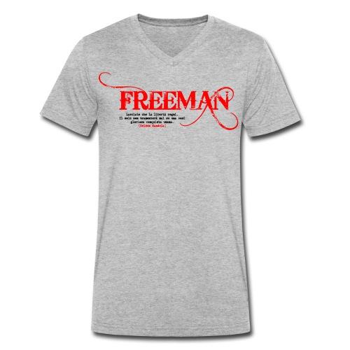 Freeman: aforisma n.1 - T-shirt ecologica da uomo con scollo a V di Stanley & Stella