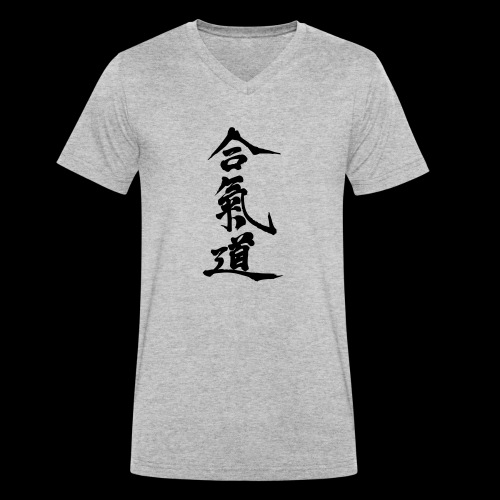 aikido_wektor - Ekologiczna koszulka męska z dekoltem w serek Stanley & Stella