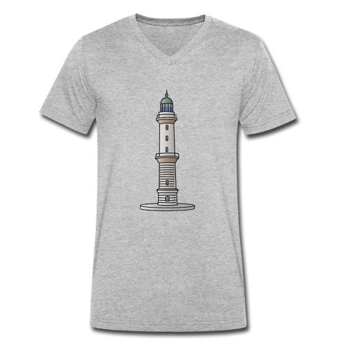 Leuchtturm Warnemünde Rostock c - Männer Bio-T-Shirt mit V-Ausschnitt von Stanley & Stella