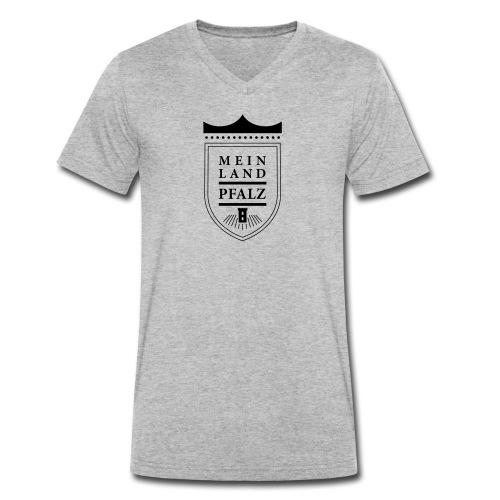 meinlandpfalz wappen - Männer Bio-T-Shirt mit V-Ausschnitt von Stanley & Stella