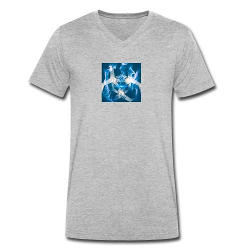 Feuer Logo - Männer Bio-T-Shirt mit V-Ausschnitt von Stanley & Stella