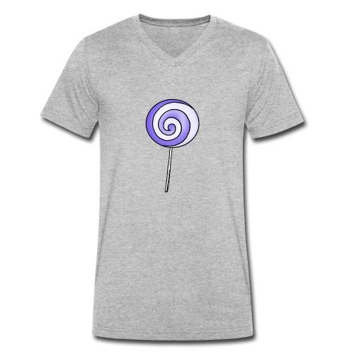 geringelter Lollipop - Männer Bio-T-Shirt mit V-Ausschnitt von Stanley & Stella