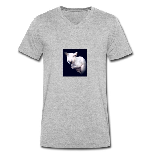 Cat Pow£r - Camiseta ecológica hombre con cuello de pico de Stanley & Stella
