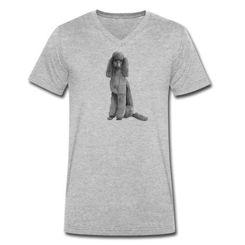 poodle standard black / kongepuddel sort - Økologisk Stanley & Stella T-shirt med V-udskæring til herrer