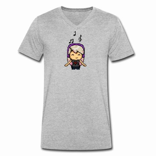 Carina Musik pixel - Männer Bio-T-Shirt mit V-Ausschnitt von Stanley & Stella