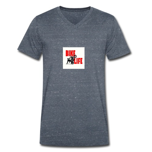 KEEP IT BIKELIFE - Men's Organic V-Neck T-Shirt by Stanley & Stella