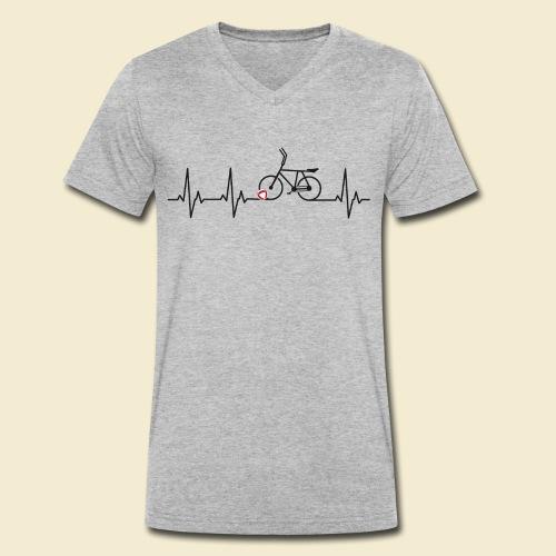 Radball | Heart Monitor Black - Männer Bio-T-Shirt mit V-Ausschnitt von Stanley & Stella