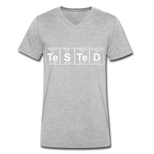 Te-S-Te-D (tested) (small) - Men's Organic V-Neck T-Shirt by Stanley & Stella