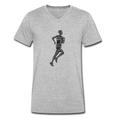 runner running - Men's Organic V-Neck T-Shirt by Stanley & Stella
