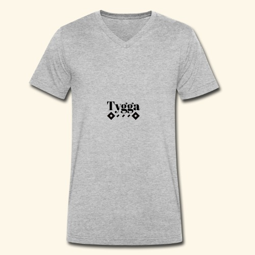 Tygga logo - Men's Organic V-Neck T-Shirt by Stanley & Stella