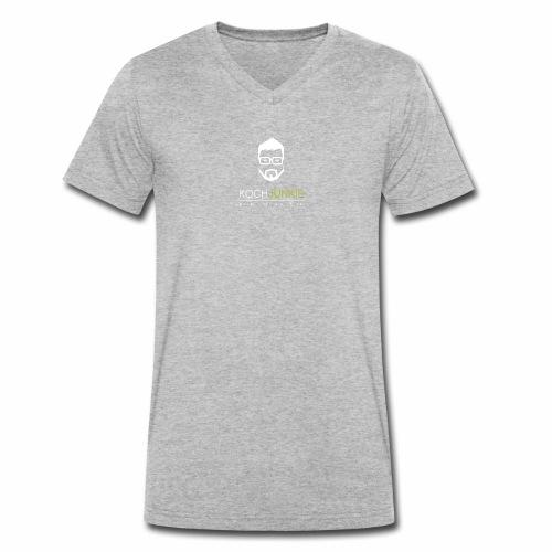 weiss trans png - Männer Bio-T-Shirt mit V-Ausschnitt von Stanley & Stella