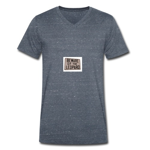 be ware of the leopard - Men's Organic V-Neck T-Shirt by Stanley & Stella