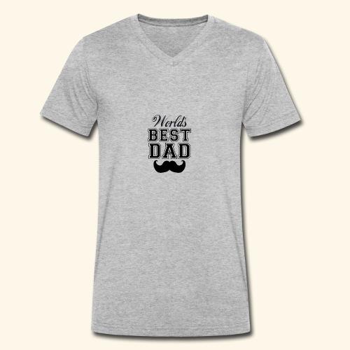 Worlds best dad - Økologisk Stanley & Stella T-shirt med V-udskæring til herrer