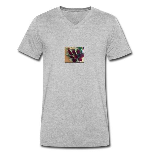 Buso gris - Camiseta ecológica hombre con cuello de pico de Stanley & Stella