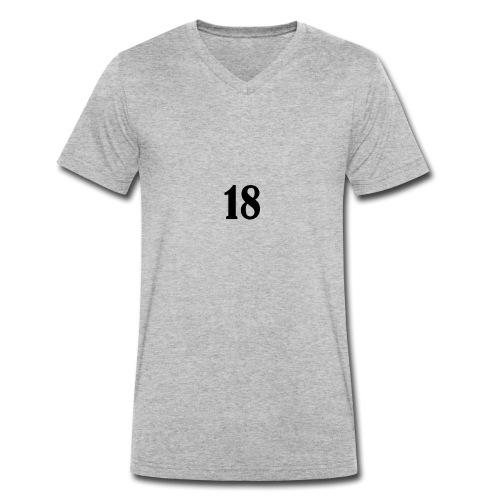 18 logo t shirt - Men's Organic V-Neck T-Shirt by Stanley & Stella