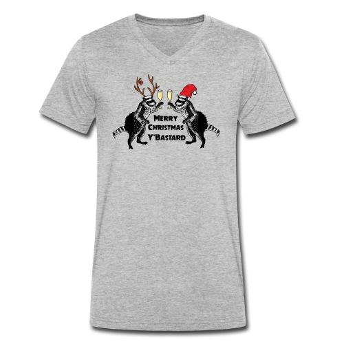 Xmas Raccoons - Men's Organic V-Neck T-Shirt by Stanley & Stella