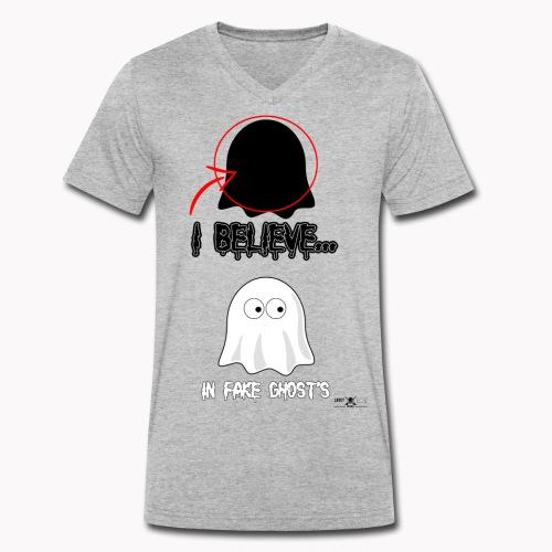 Lokey Reviews Official Spooky Ass Sunday Design - Men's Organic V-Neck T-Shirt by Stanley & Stella
