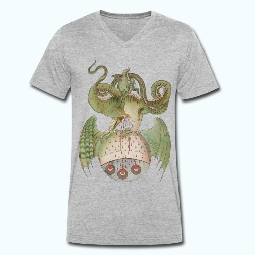 Middle Ages Dragon - Men's Organic V-Neck T-Shirt by Stanley & Stella