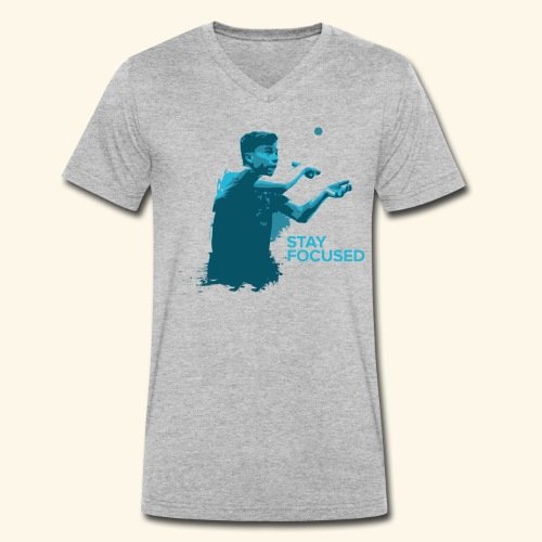 Stay Focused and enjoy the game ping pong - Männer Bio-T-Shirt mit V-Ausschnitt von Stanley & Stella