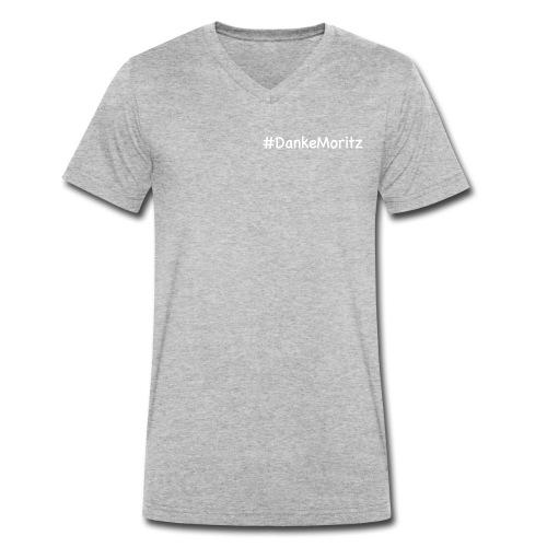 #DankeMoritz - Men's Organic V-Neck T-Shirt by Stanley & Stella
