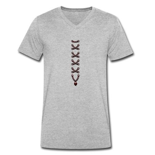Mieder Korsage Herz Kette - Männer Bio-T-Shirt mit V-Ausschnitt von Stanley & Stella