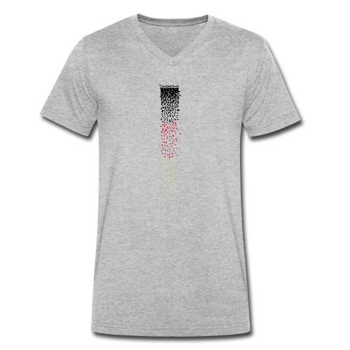 Deutschlandlines 4 - Männer Bio-T-Shirt mit V-Ausschnitt von Stanley & Stella