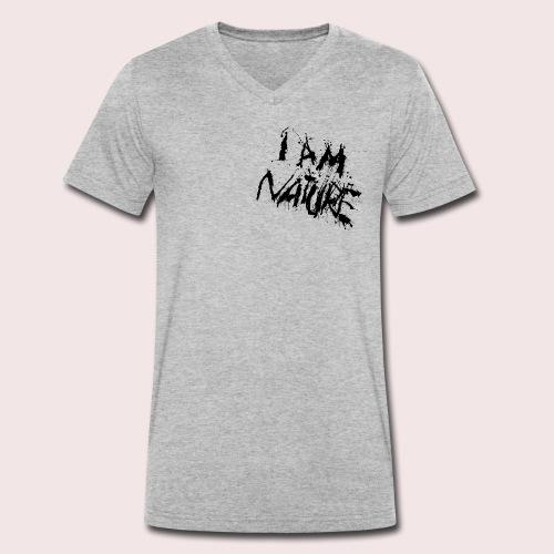 I AM NATURE (backprint) - Männer Bio-T-Shirt mit V-Ausschnitt von Stanley & Stella