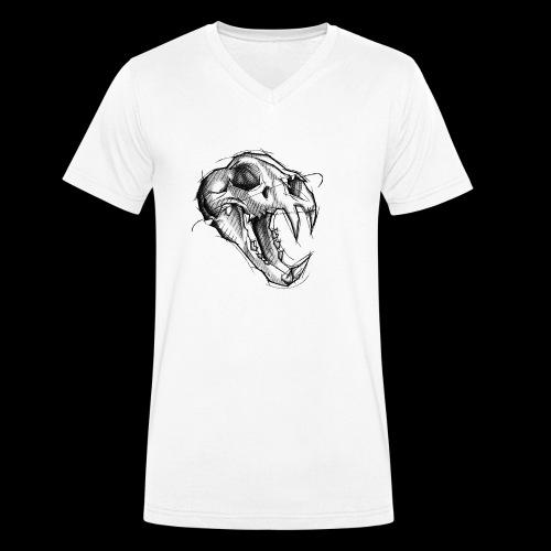 Teschio Tigre - T-shirt ecologica da uomo con scollo a V di Stanley & Stella