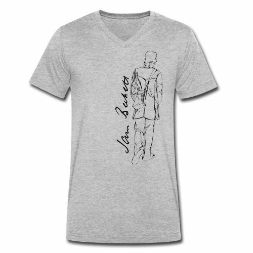 Samuel Beckett - Men's Organic V-Neck T-Shirt by Stanley & Stella
