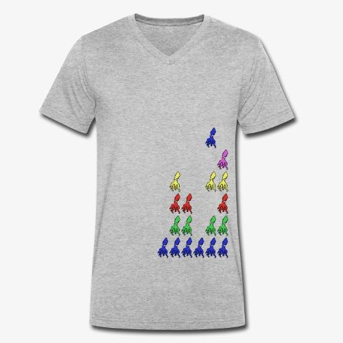 Squid Invader - T-shirt bio col V Stanley & Stella Homme