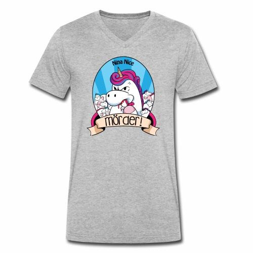 Murder Unicorn - Männer Bio-T-Shirt mit V-Ausschnitt von Stanley & Stella
