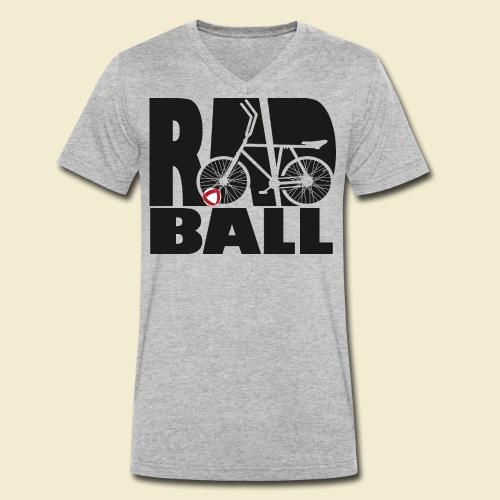 Radball   Typo Black - Männer Bio-T-Shirt mit V-Ausschnitt von Stanley & Stella