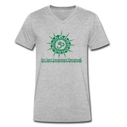 Ganesha Mantra OM Symbol Yoga Tshirt Hoodie - Männer Bio-T-Shirt mit V-Ausschnitt von Stanley & Stella
