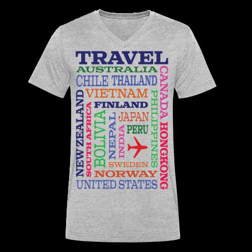 Travel Places design - Stanley & Stellan naisten luomupikeepaita