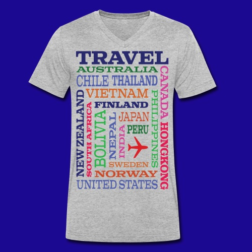 Travel Places design - Stanley & Stellan miesten luomupikeepaita