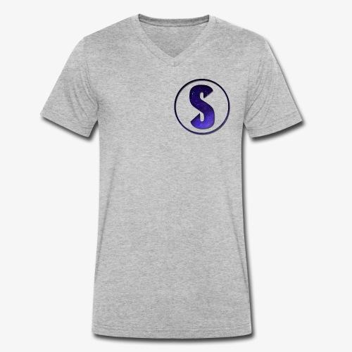 YouTube Logo von Salxphaa - Männer Bio-T-Shirt mit V-Ausschnitt von Stanley & Stella