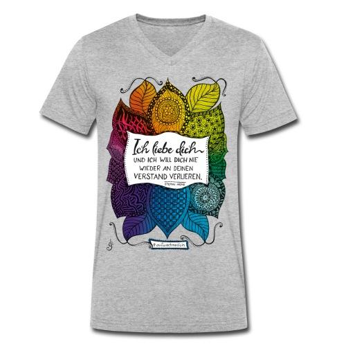 Ich liebe dich - Rainbow Version - Männer Bio-T-Shirt mit V-Ausschnitt von Stanley & Stella