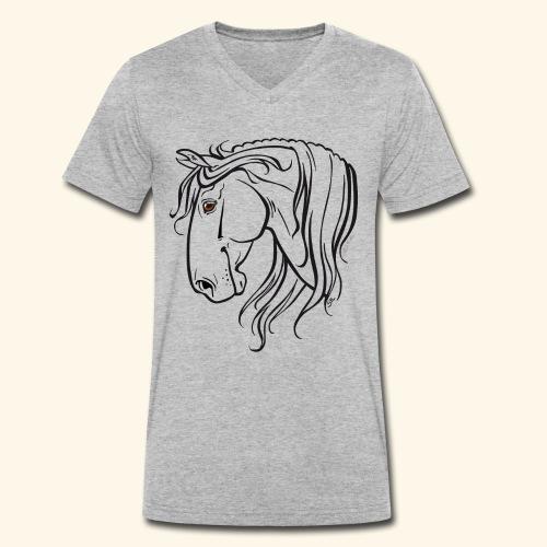 Cheval espagnol (noir) - T-shirt bio col V Stanley & Stella Homme