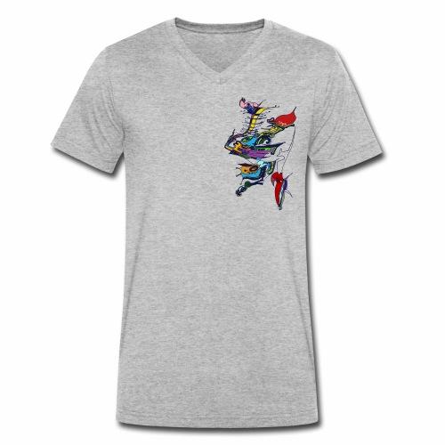 livrea3 COLORATA senza sfondo - T-shirt ecologica da uomo con scollo a V di Stanley & Stella