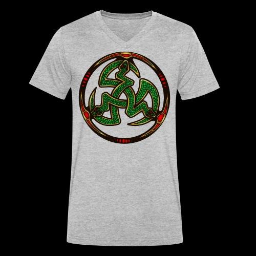 Serpent Triskellion - Men's Organic V-Neck T-Shirt by Stanley & Stella