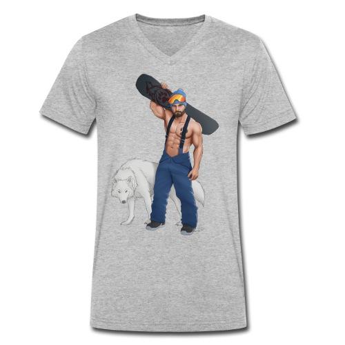snowboarder wolf - T-shirt ecologica da uomo con scollo a V di Stanley & Stella