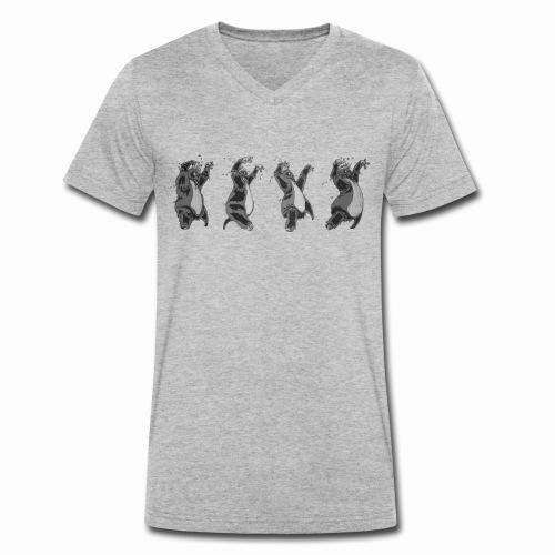 "Stuffed Man Frames from ""Icecream Boy"" - Men's Organic V-Neck T-Shirt by Stanley & Stella"