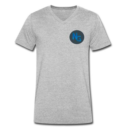 NG Logo - Økologisk Stanley & Stella T-shirt med V-udskæring til herrer