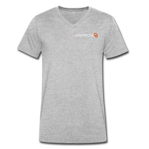 INSPEKTA negativ v2 - Økologisk T-skjorte med V-hals for menn fra Stanley & Stella