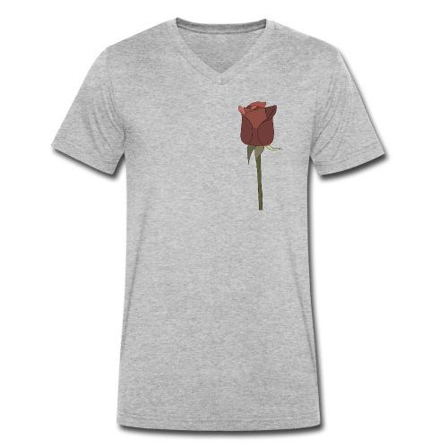 Rose - Männer Bio-T-Shirt mit V-Ausschnitt von Stanley & Stella