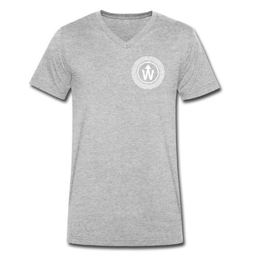 wit logo transparante achtergrond - Mannen bio T-shirt met V-hals van Stanley & Stella