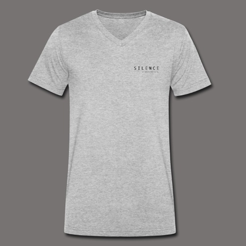 Silence text and corp pos 01 - Men's Organic V-Neck T-Shirt by Stanley & Stella