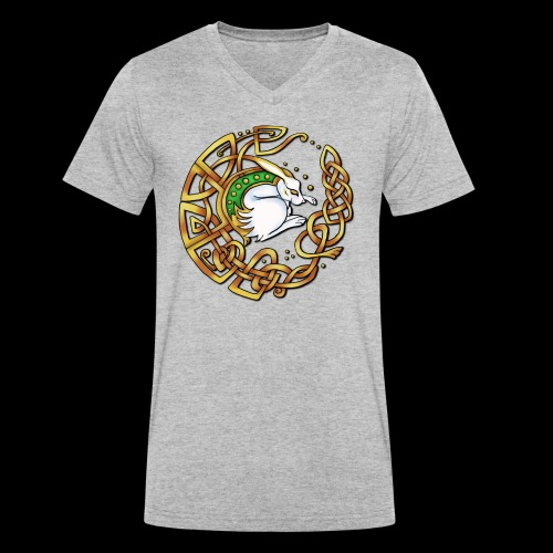 Celtic Hare - Men's Organic V-Neck T-Shirt by Stanley & Stella