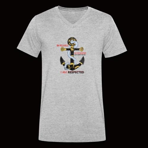 ANCHOR - Men's Organic V-Neck T-Shirt by Stanley & Stella
