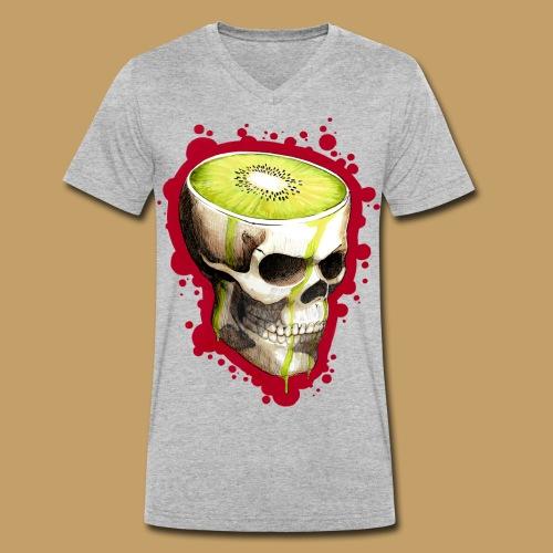 Czacha Kiwi - Ekologiczna koszulka męska z dekoltem w serek Stanley & Stella